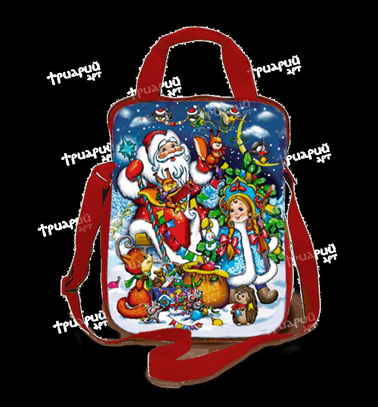 Новогодняя упаковка сумочка «Белочки-сестрички»