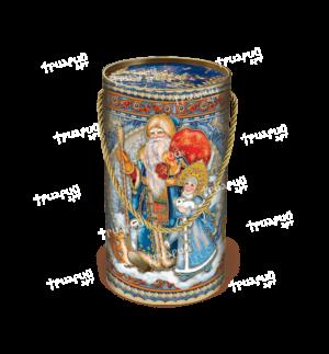 Новогодняя упаковка туба «Поздравляем!» - синий