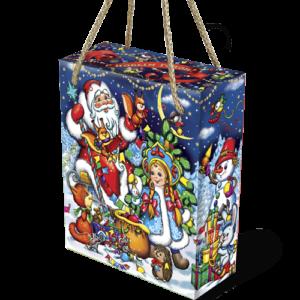 Новогодняя упаковка коробочка «Белочки-сестрички»