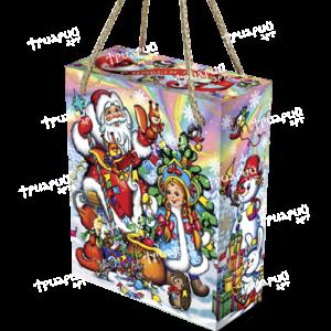 Новогодняя упаковка коробочка «Белочки-сестрички» разноцветная
