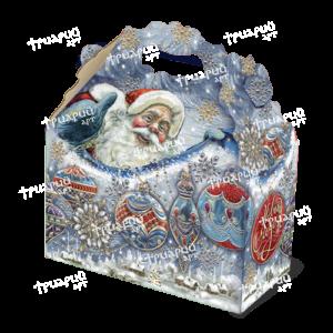 Новогодняя упаковка cундучок «Ледяной»