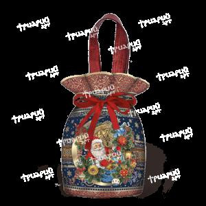 Мешочек из лессированного текстиля «Старинные часы»